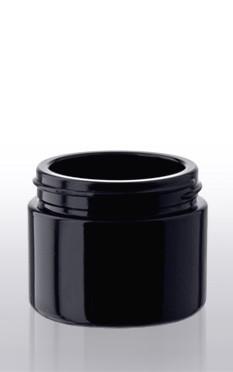 Violettglas - Kosmetikdose mit Deckel - 50 ml