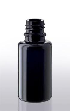 Violettglas - Flasche mit Tropfverschluss - 20 ml