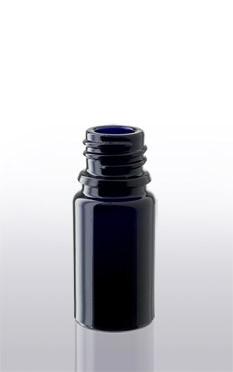 Violettglas - Flasche mit Tropfverschluss - 5 ml