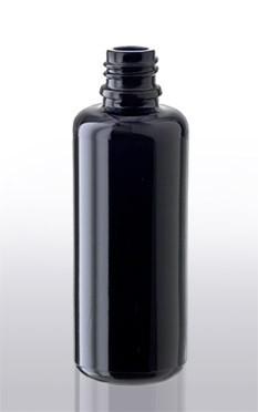 Violettglas - Flasche mit Tropfverschluss - 50 ml