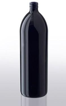 Violettglas - Flasche mit Schraubverschluss - 1000 ml