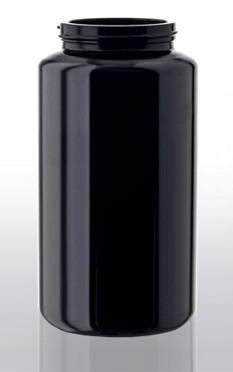 Violettglas - Weithalsdose mit Deckel - 400 ml