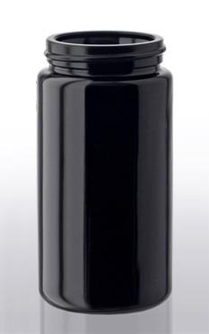 Violettglas - Weithalsdose mit Deckel - 100 ml