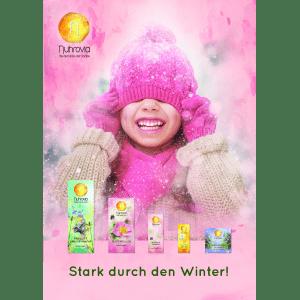 Plakat A4 Stark durch den Winter
